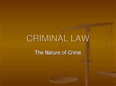 Criminal law thesis